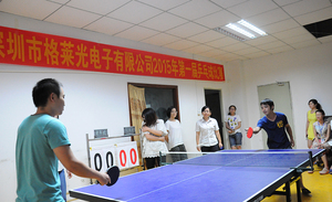 In 2015 the first table tennis competition