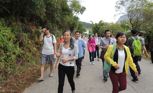 In 2014, Company management danxia mountain travel