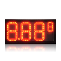 8.889 LED Gas price sign/Red