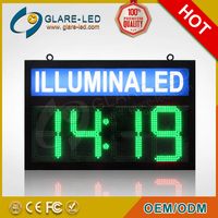 Green LED time sign