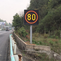 LED Variable Speed Limit Sign: Pixel tube+The display shows