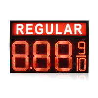 8.889/10 Mixed LED Gas Price sign with regular
